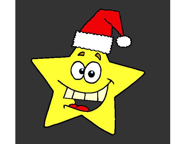 dibujos de estrellas de navidad para colorear