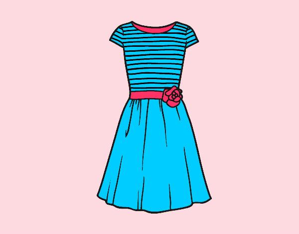 Dibujos de Vestidos para Colorear  Dibujosnet