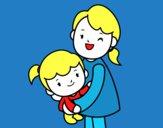Abrazo con mamá