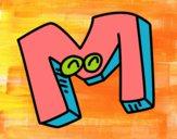 Dibujo Letra M pintado por markas