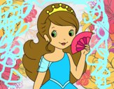Dibujo Princesa y abanico pintado por Nikki-Airi