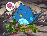 Dibujo Pájaro de Twitter pintado por MARIA432