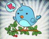 Dibujo Pájaro de Twitter pintado por VICTORIA77
