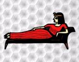 Dibujo Cleopatra tumbada pintado por Diamond