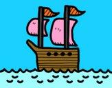Barco en altamar