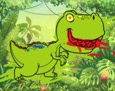 Dibujo Tyrannosaurus pintado por bornsek2