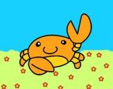 Dibujo Acuarel el cangrejo pintado por lou05