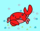 Dibujo Acuarel el cangrejo pintado por gibee