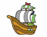 Dibujo Barco de corsarios pintado por fontanero