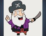 Dibujo Capitán pirata pintado por yolenny