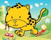 Dibujo Cría de guepardo corriendo pintado por layer0321