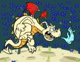 Dibujo Dragón malvado pintado por Jakeo