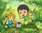 Dibujo Fútbol en el recreo pintado por neymarisma
