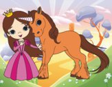 Dibujo Princesa y unicornio pintado por may_208