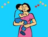 Dibujo Beso maternal pintado por LunaLunita