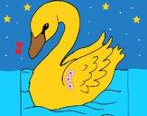 Dibujo Cisne pintado por LunaLunita
