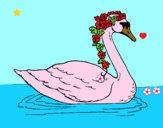 Dibujo Cisne con flores pintado por LunaLunita