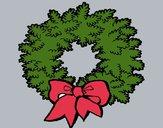 Dibujo Corona de navidad pintado por Potte