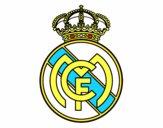 Dibujo Escudo del Real Madrid C.F. pintado por QEUE