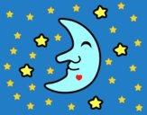 Dibujo Luna con estrellas pintado por mariana628
