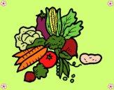 Dibujo verduras pintado por LunaLunita