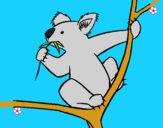 Dibujo Koala pintado por LunaLunita