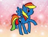 Dibujo Rainbowdash pintado por danna521
