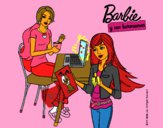 Dibujo Barbie y su hermana merendando pintado por RocioNayla