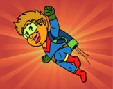 Héroe volando
