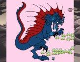Dragón sacando las garras