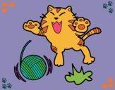 Dibujo Gato juguetón pintado por NinaWings