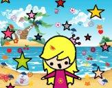 Princesa con estrellas