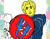 Dibujo Caballero con escudo de león pintado por JOLI