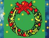 Dibujo Corona de navidad 1 pintado por alis59