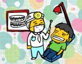 Dentista con paciente
