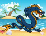 Dibujo Dragón caminando pintado por Aledav99