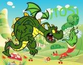 Dibujo Dragón malvado pintado por Aledav99