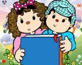 Niños con libros