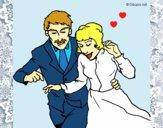 Dibujo Recién casados pintado por LunaLunita