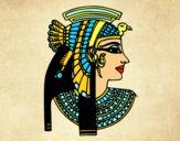 Dibujo Perfil de Cleopatra pintado por Ali2004