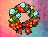 Una corona de Navidad