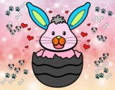 Conejo en un cascarón