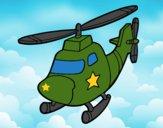 Helicóptero con una estrella