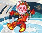 Un astronauta en el espacio