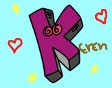 Dibujo Letra K pintado por sara_eli