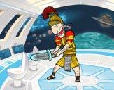 Soldado romano con espada