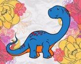 Dibujo Brachiosaurus pintado por pgonchez