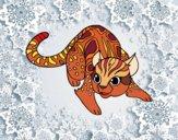 Dibujo Gato salvaje africano pintado por leolino