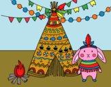Dibujo Conejo indio pintado por queyla