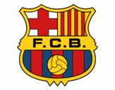 Dibujo Escudo del F.C. Barcelona pintado por jrerertert